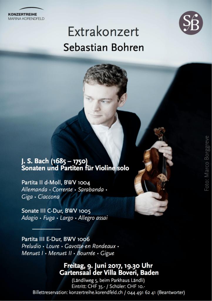 Сольный концерт скрипача Себастьяна Борена