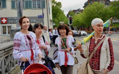 Украинская вышиванка на улицах Цюриха