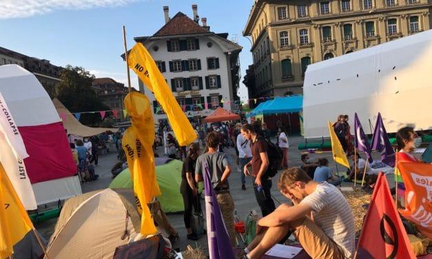 Молодежный климатический протест в Берне 21 сентября 2020 г. (© Людмила Клот)