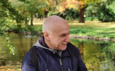 Александр Хургин у Замкового пруда в Хемнице, Германия, 2020 г. (© Элла Кривуля)