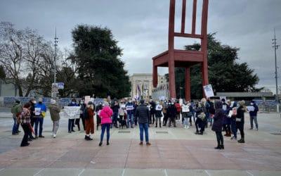 Митинг «Свободу Навальному!» на площади Наций в Женеве 23 января 2021. (© schwingen.net)