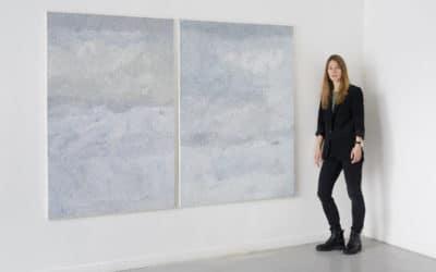 Вероника Мошникова и её «записи» в Galeria Szewska 16 в Познани, декабрь 2020 г. (© Ewa Belańczyk-Obst)