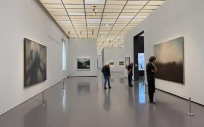 Видео во внутреннем зале показывает, как работал Герхард Рихтер. (© schwingen.net)